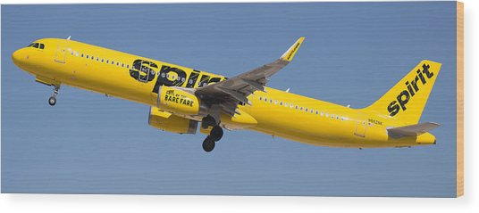 Spirit Airline Wood Print