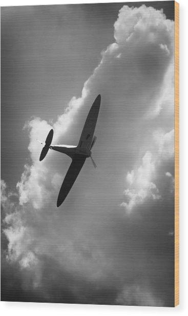 Spitfire Wood Print