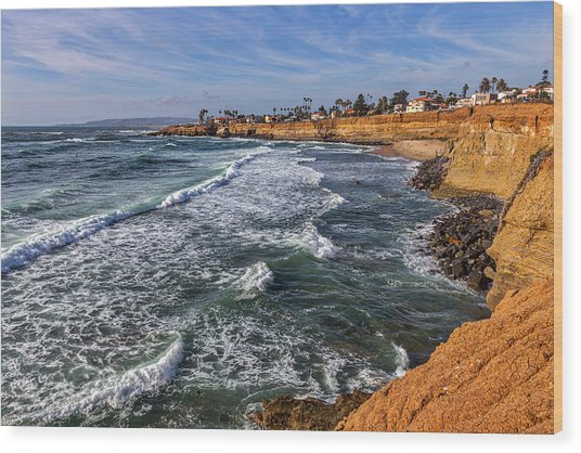 Sunset Cliffs 2 Wood Print