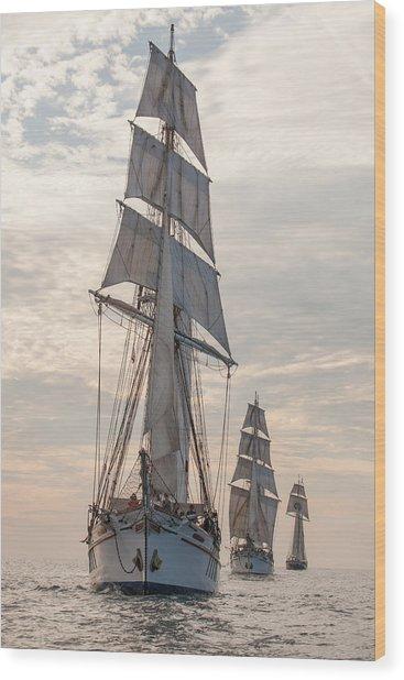 Parade Of Ships Wood Print