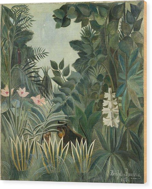 The Equatorial Jungle Wood Print