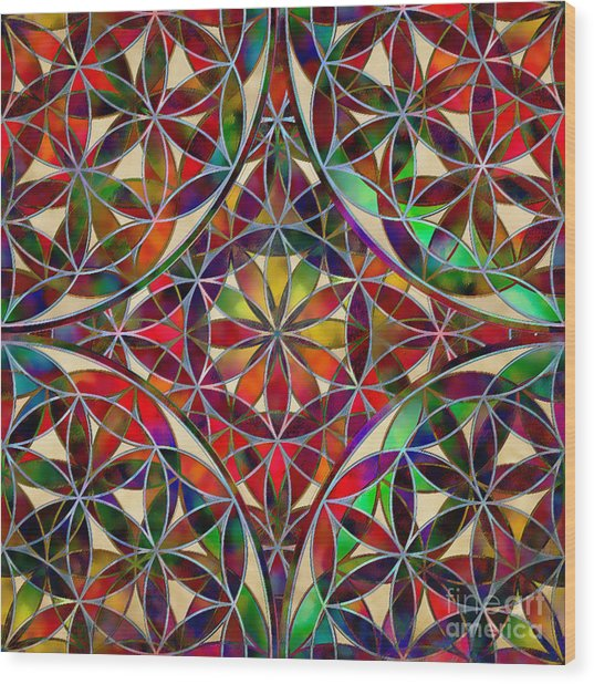 The Flower Of Life Wood Print