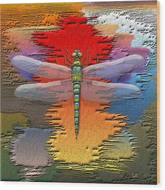 The Legend Of Emperor Dragonfly Wood Print