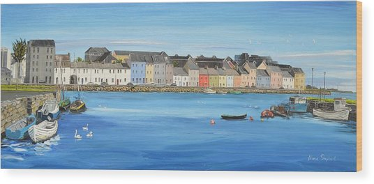 The Long Walk Galway Ireland Wood Print