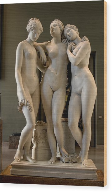 The Three Graces Wood Print by Carl Purcell