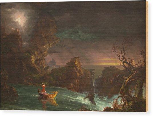 The Voyage Of Life, Manhood Wood Print