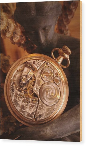 Time... Wood Print