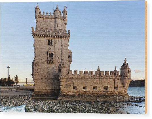 Tower Of Belem Wood Print by Andre Goncalves