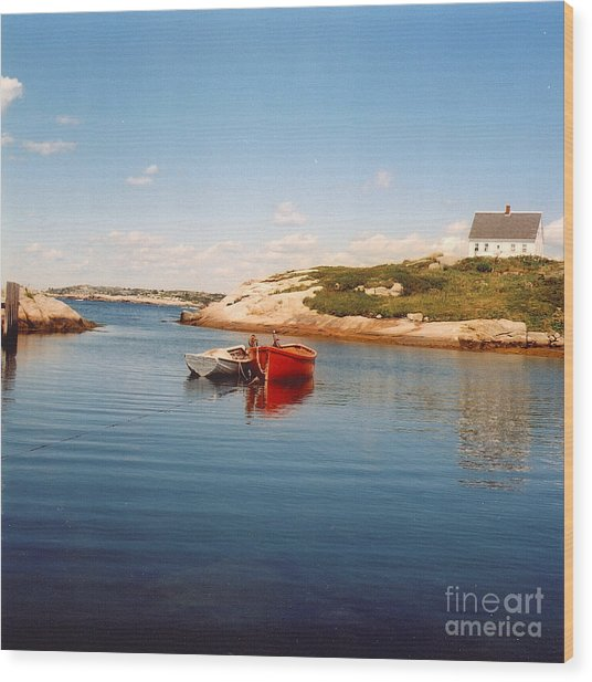 Two Boats Wood Print by Andrea Simon