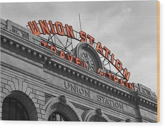 Union Station - Denver  Wood Print