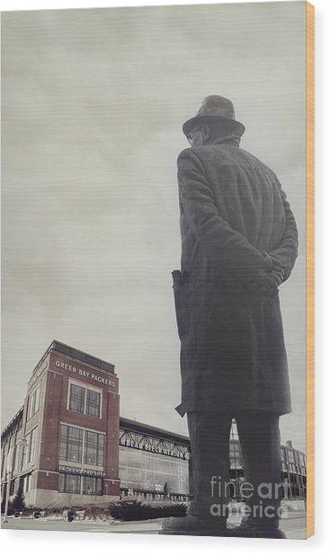 Vince Lombardi Wood Print