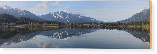 Whistler Blackcomb Green Lake Reflection Wood Print