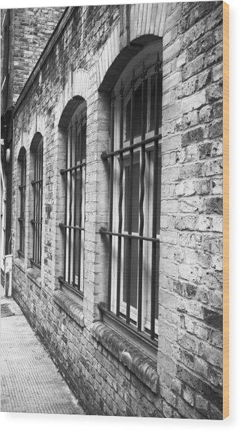 Window Bars Wood Print