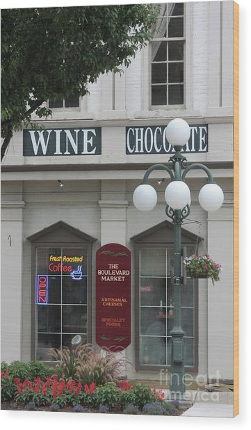 Wine And Chocolate Wood Print