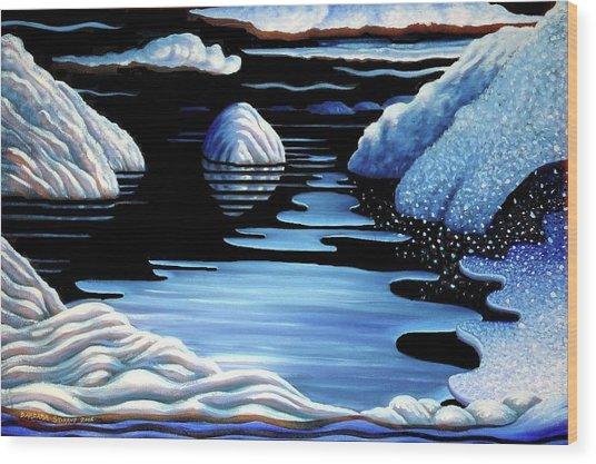Winter Wood Print by Barbara Stirrup