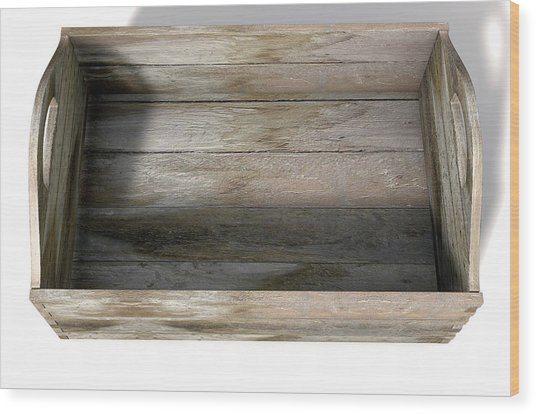 Wooden Carry Crate Wood Print