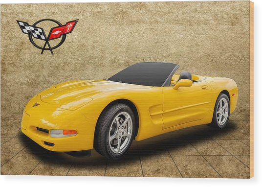 2002 C5 Chevy Corvette Wood Print