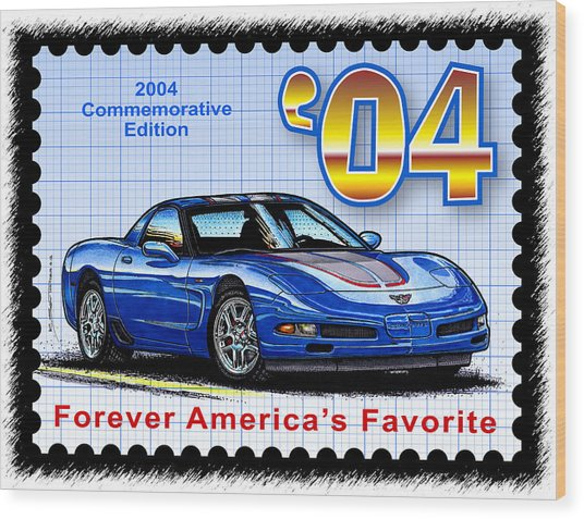 2004 Commemorative Edition Corvette Wood Print