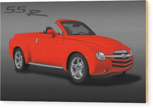 2005 Chevrolet Ssr - Super Sport Roadster  -  2005chevyssrlogo173401 Wood Print