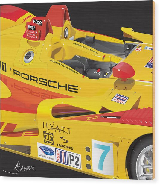 2008 Rs Spyder Illustration Wood Print