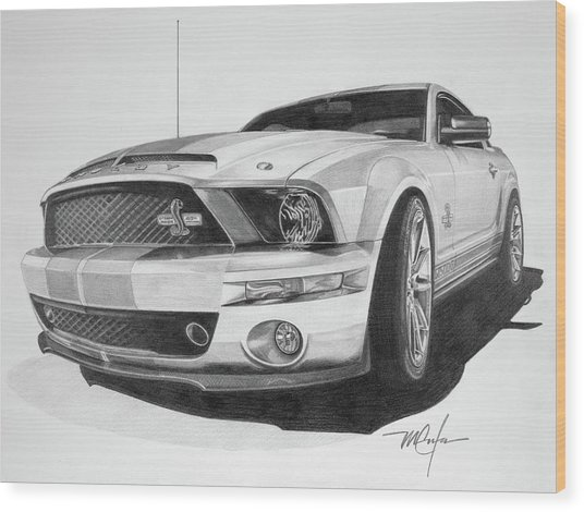 2008 Shelby Cobra 40th Anniversary 1968-2008 Wood Print