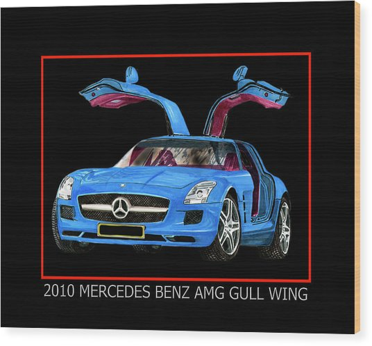 2010 Mercedes Benz S L S A Mg Wood Print