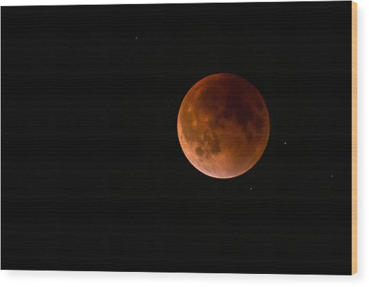 2015 Blood Harvest Supermoon Eclipse Wood Print