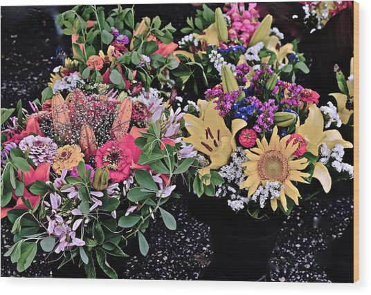 2015 Monona Farmers Market Flowers 1 Wood Print