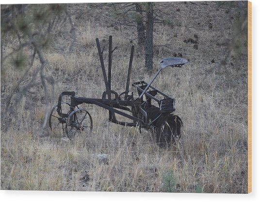 Old Farm Implement Lake George Co Wood Print