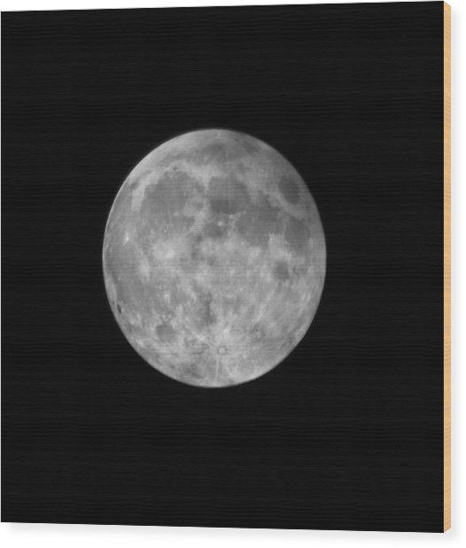 2015 Super Moon Wood Print