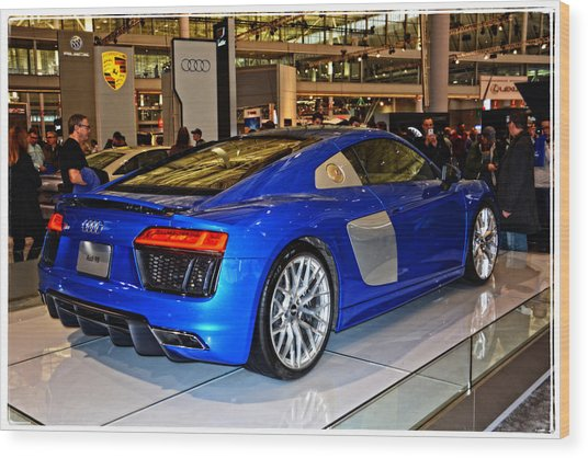 2016 Audi R8 Wood Print