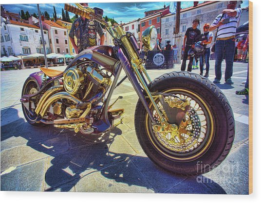 2016 Custom Harley Winner Wood Print