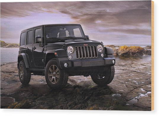 2016 Jeep Wrangler 75th Anniversary Model Wood Print