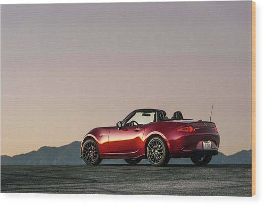 2016 Mazda Mx-5 Miata Wood Print by Drew Phillips