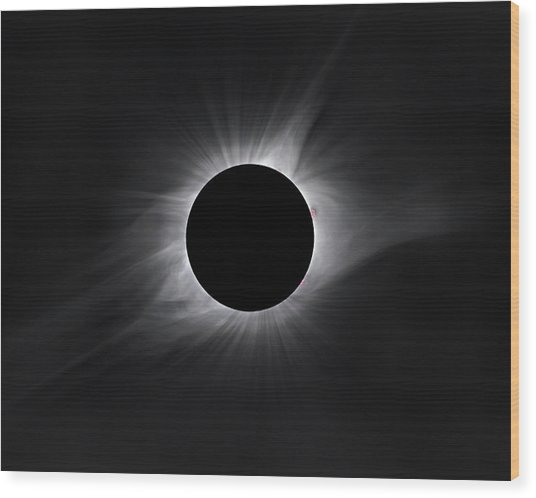 2017 Eclipse Totality Wood Print