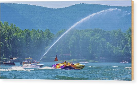 2017 Poker Run, Smith Mountain Lake, Virginia Wood Print