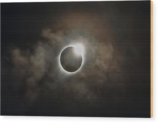 2017 Solar Eclipse Exit Ring Wood Print