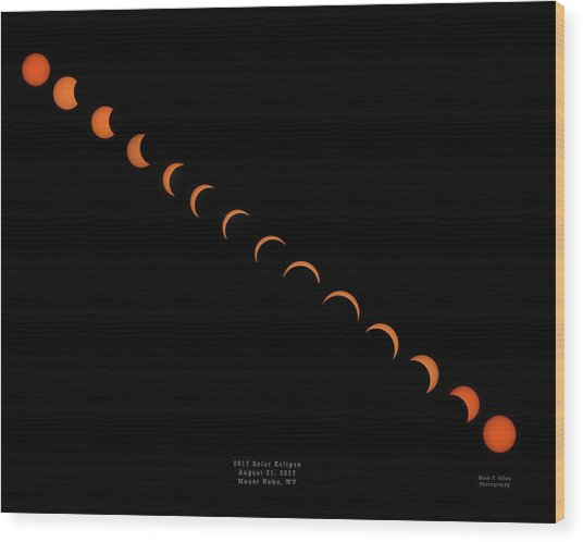 2017 Solar Eclipse Wood Print