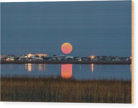 Wood Print featuring the photograph 2017 Supermoon by Francis Trudeau