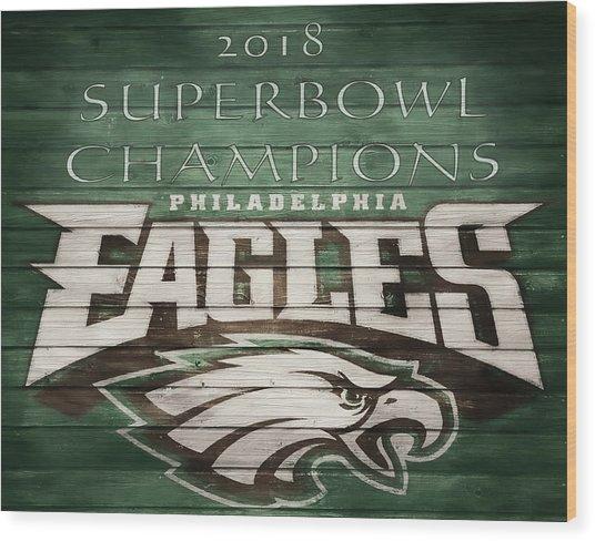 2018 Superbowl Eagles Barn Wall Wood Print