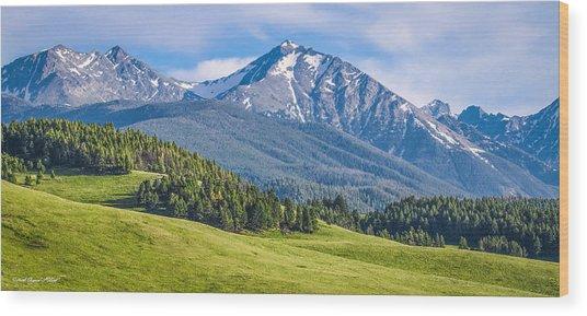 #215 - Spanish Peaks, Southwest Montana Wood Print