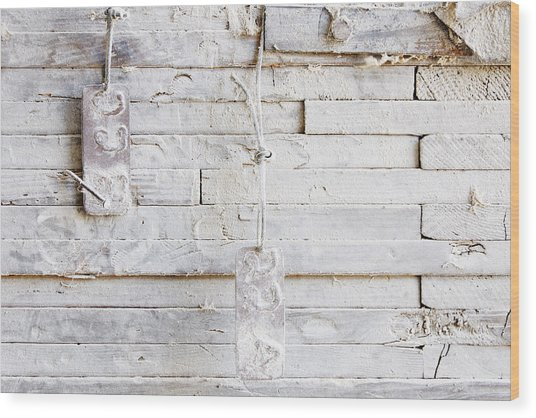 22 A And B -- Granary Wall In Templeton, California Wood Print
