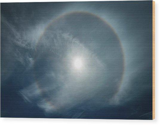 22 Degree Solar Halo Wood Print