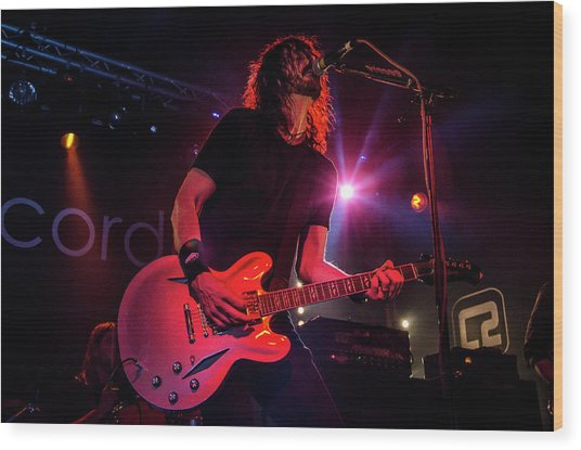 Uk Foo Fighters Live @ Concorde 2 Wood Print