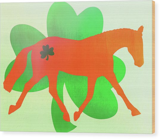 Celtic Lengthen Trot  Wood Print by JAMART Photography