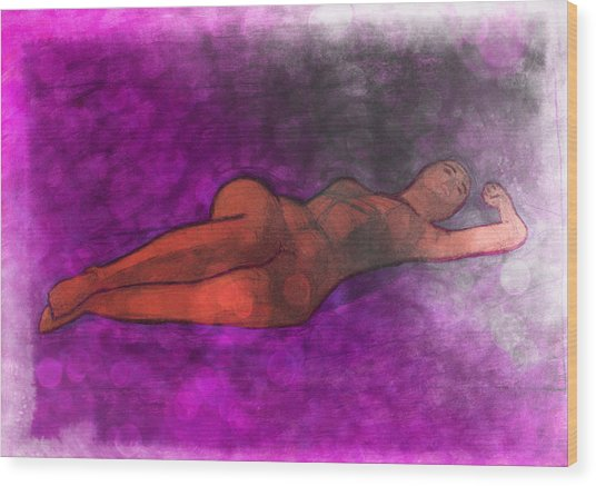 Nude Woman Wood Print