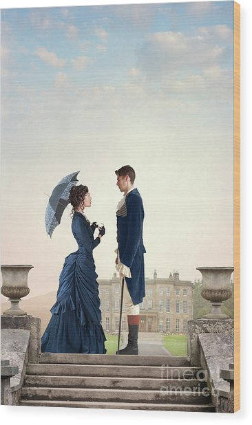 Victorian Couple  Wood Print