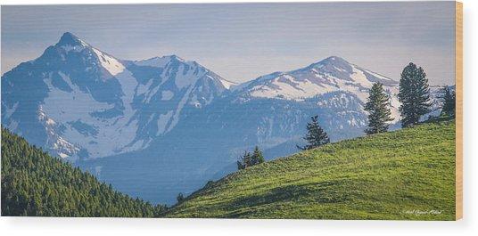 #238 - Spanish Peaks, Southwest Montana Wood Print