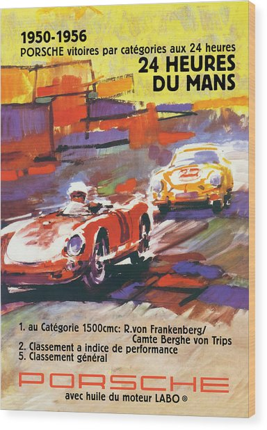 24 Hours Of Le Mans Wood Print