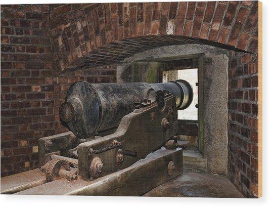 24 Pounder Cannon Wood Print